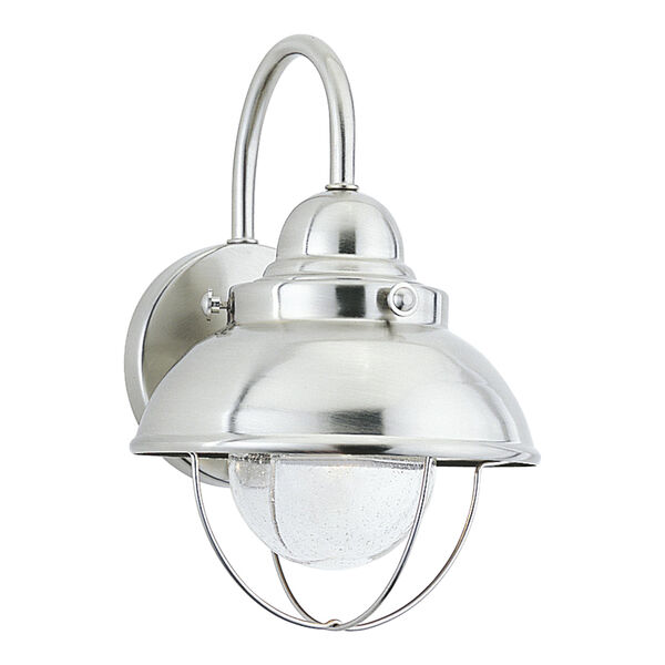Sebring Brushed Stainless Eight-Inch LED Outdoor Wall Sconce, image 1