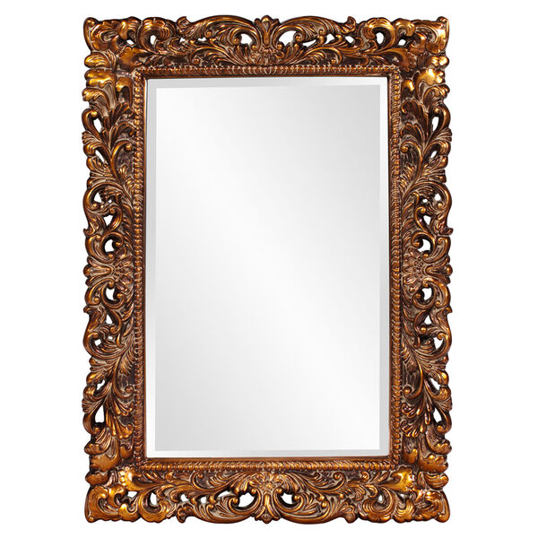 Barcelona Gold Rectangle Mirror, image 1