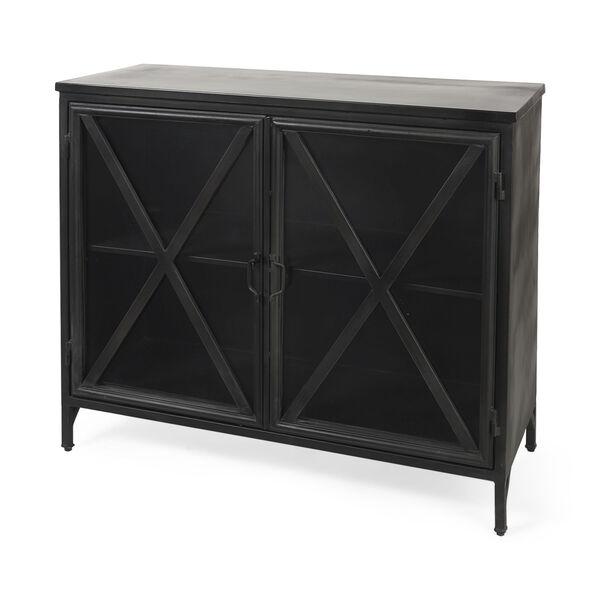 Poppy III Black Cabinet with Glass Door, image 1