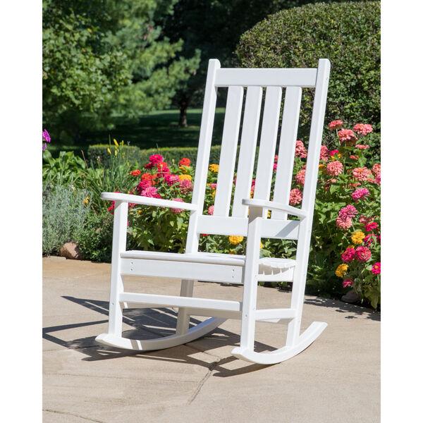Vineyard White Porch Rocking Chair, image 2