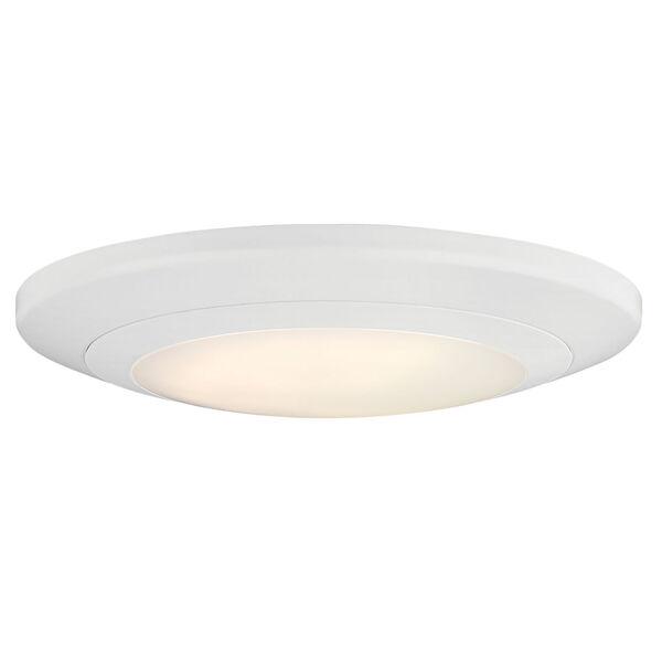 White Eight-Inch LED Round Flush Mount, image 1