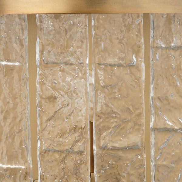 Waterfall Clear Glass with Antique Brass Two-Light Wall Sconce, image 4