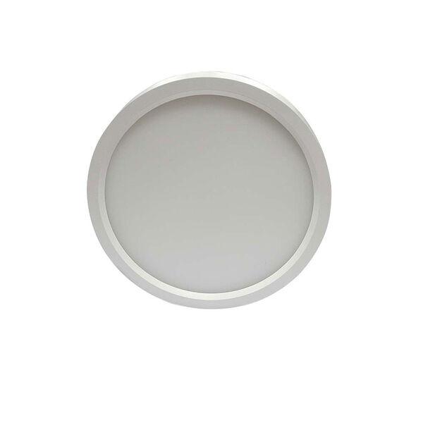 White 7-Inch 3000K LED Recessed Disk Light, image 3