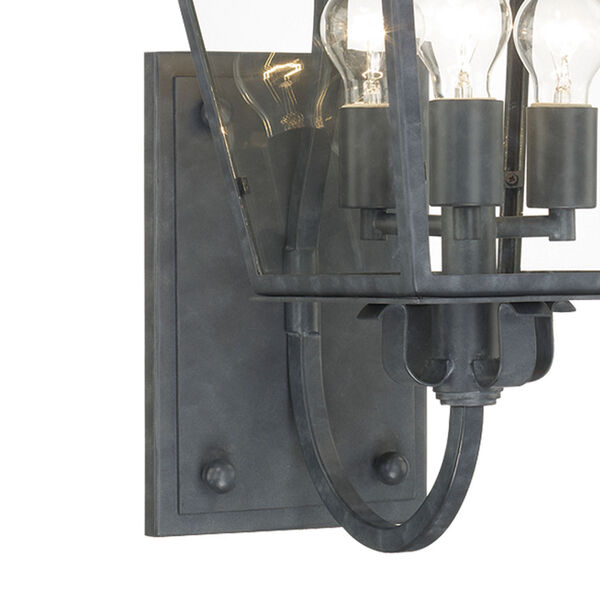 Dumont Graphite 32-Inch High Three-Light Outdoor Wall Mount, image 3
