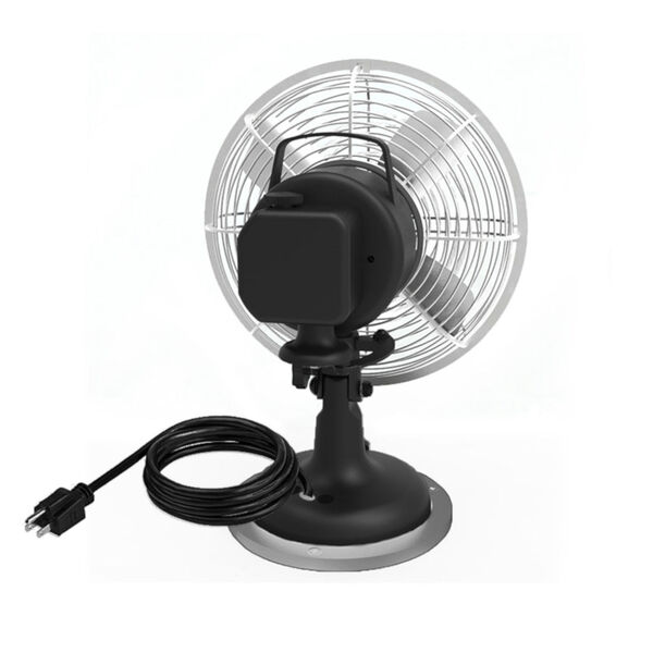 Oscillating Plug-In 8-Inch Desk Fan with Three Speed Motor Control, image 2
