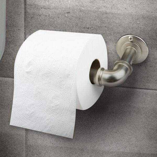 Satin Nickel Eight-Inch Single Toilet Paper Holder, image 2