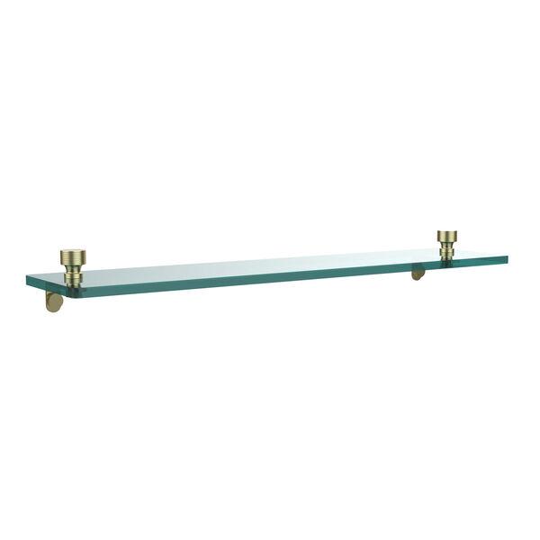 Foxtrot  Satin Brass Single Shelf, image 1