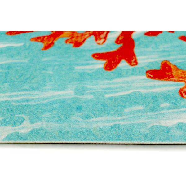 Liora Manne Illusions Aqua Coral Wave Indoor/Outdoor Floor Mat, image 4