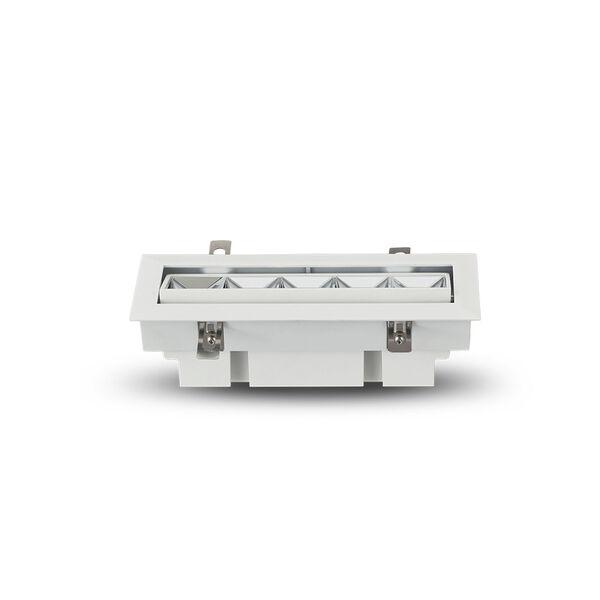 Rubik White Five-Light Adjustable LED Recessed Downlight, image 5