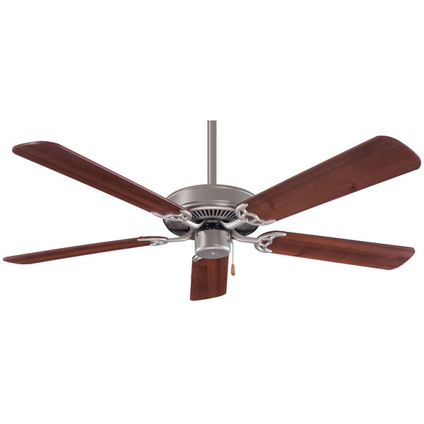 42-Inch Contractor Brushed Steel Ceiling Fan, image 1