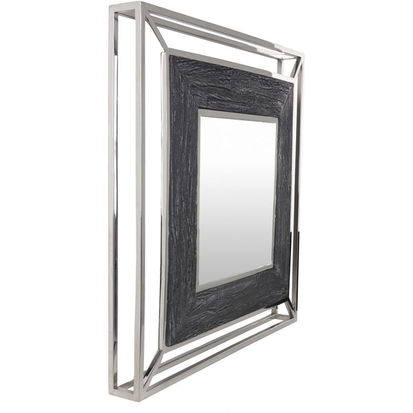 Allure Gray and Silver 32-Inch Wall Mirror, image 3