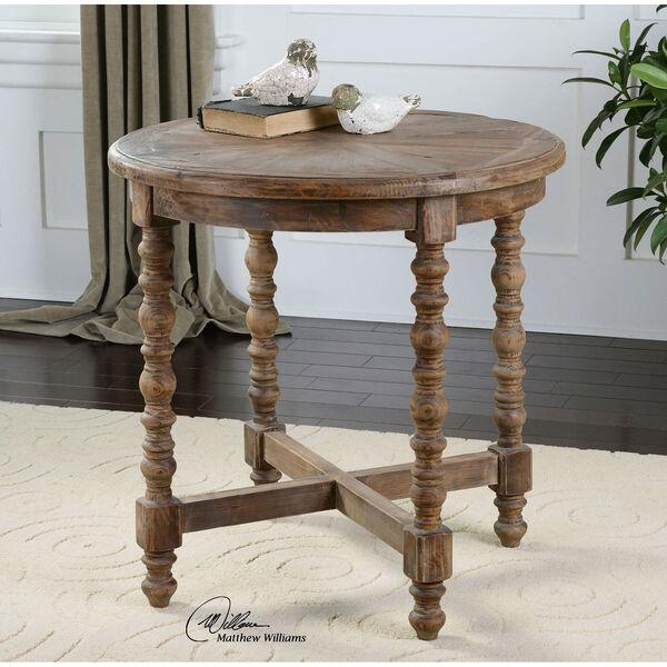 Samuelle Reclaimed Fir Wood End Table, image 2