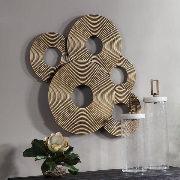 Ahmet Gold Ring Wall Decor, image 1
