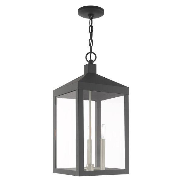 Nyack Scandinavian Gray 11-Inch Three-Light Pendant Lantern, image 1