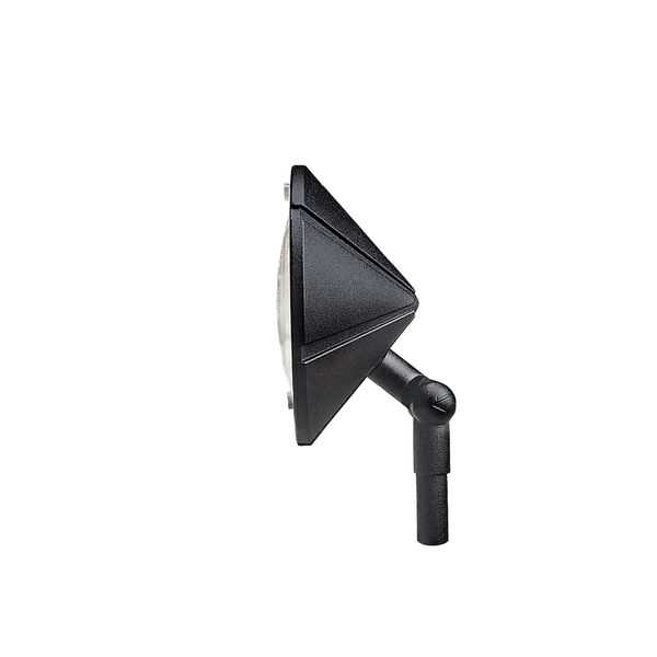 Six Groove Textured Black 6-Inch One-Light Landscape Accent Fixture, image 2