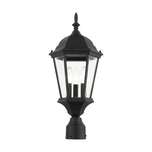 Hamilton Textured Black 10-Inch Three-Light Outdoor Post Lantern, image 3