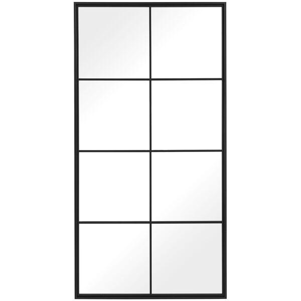 Rousseau Black Iron Window Mirror, image 2