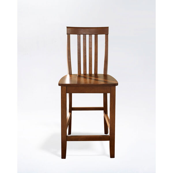 School House Bar Stool in Classic Cherry Finish with 24 Inch Seat Height- Set of Two, image 2