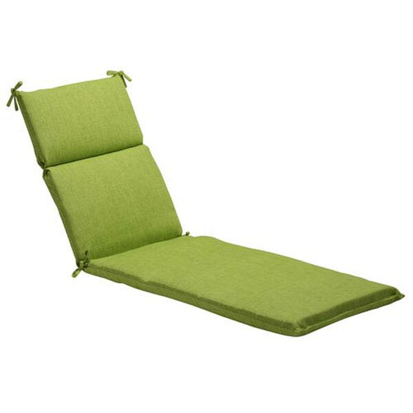 Outdoor Green Textured Solid Chaise Lounge Cushion, image 1