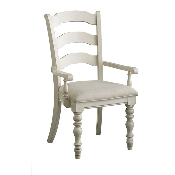 Grace Old White Ladder Back Arm Chair, Set of Two, image 1