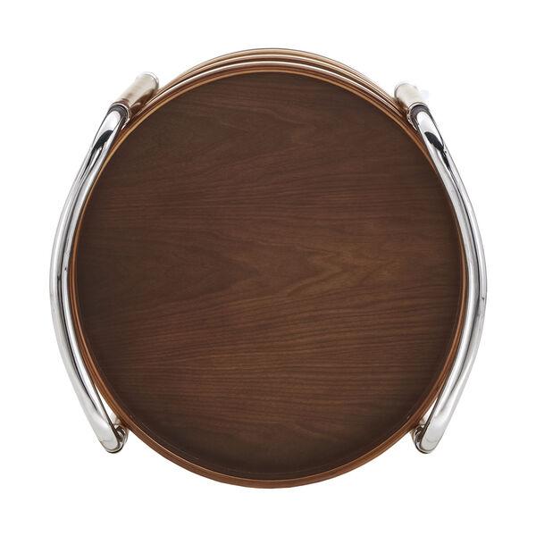 Adora Walnut Round Bar Cart, image 5