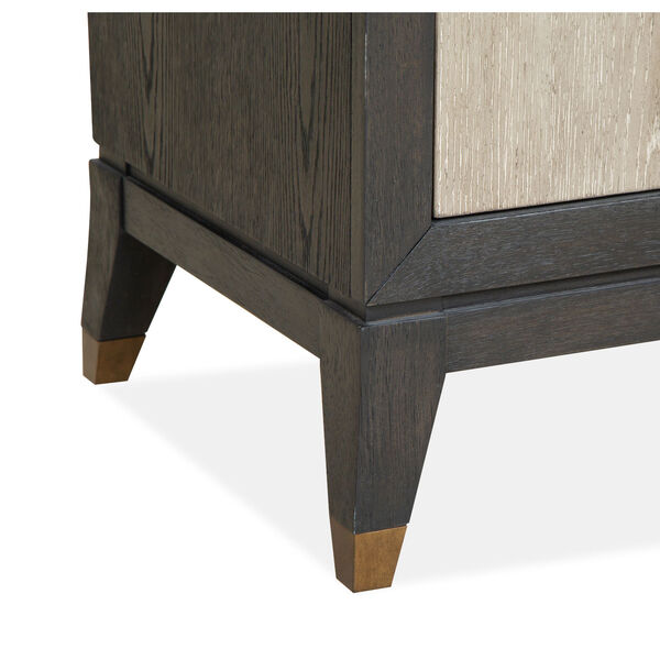 Ryker Nocturn Black and Coventry Gray Nightstand with Drawer, image 5