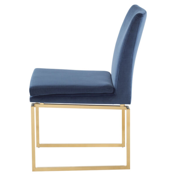 Savine Peacock and Gold Dining Chair, image 3