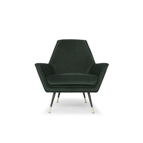 Vanessa Emerald Green and Black Occasional Chair, image 6