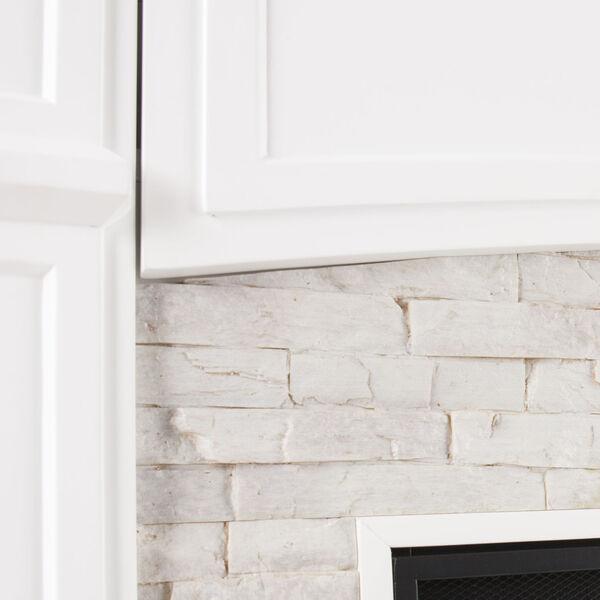 Seneca Crisp White Smart Media Electric Fireplace, image 6