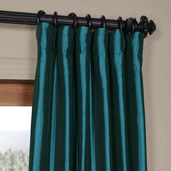 Mediterranean Faux Silk Taffeta Single Panel Curtain, 50 X 120, image 2