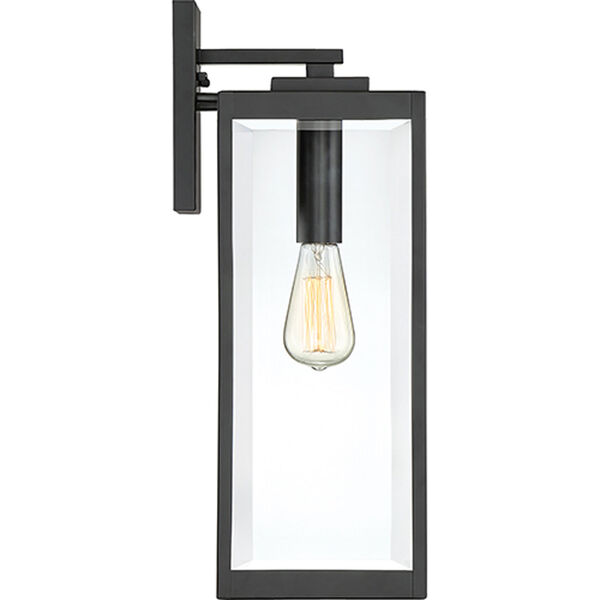 Pax Black 20-Inch One-Light Outdoor Wall Lantern with Beveled Glass, image 4