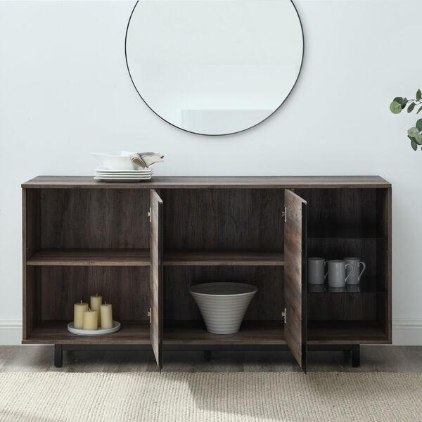 Wyatt Grey Wash Two Door Shelf Sideboard, image 4