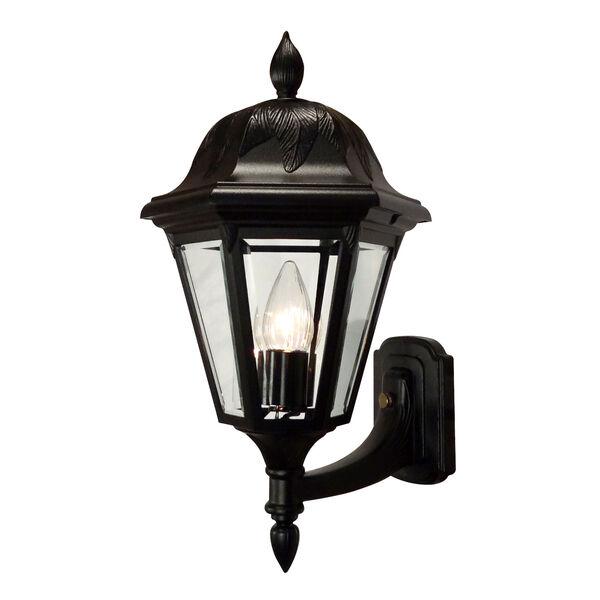 Floral Black Medium Bottom Mount Light – Short Tail, image 1