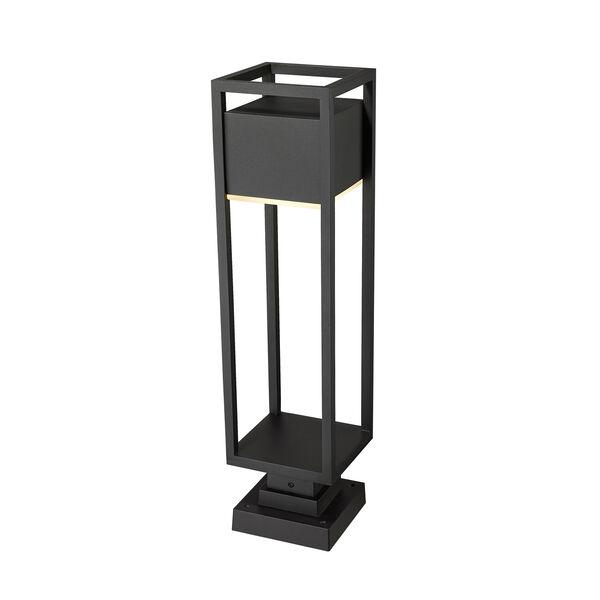 Barwick Black 28-Inch One-Light LED Outdoor Pier Mount, image 5