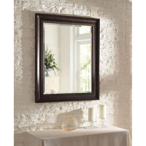 Amiens Bronze and Gold Highlight 30-Inch Wall Mirror, image 1