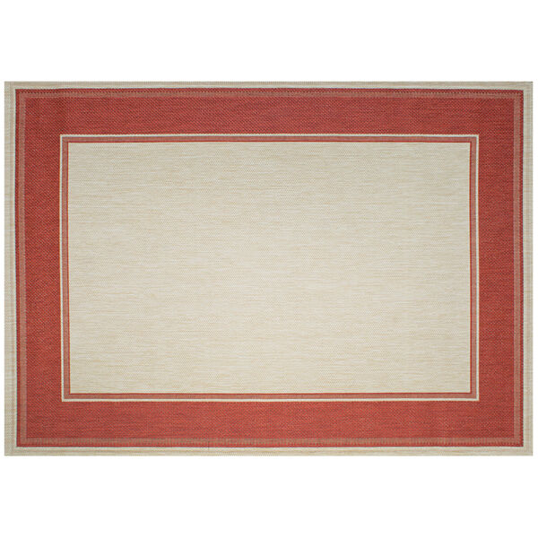 Lodge - Redwood Red 7-Feet 10-Inch x 10-Feet Rectangle Outdoor Rug, image 1