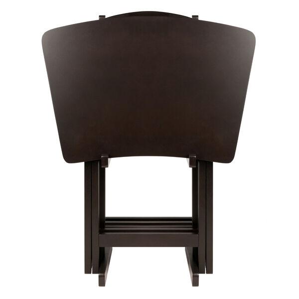 Anila Coffee Five-Piece Fan Shape Snack Table Set, image 2