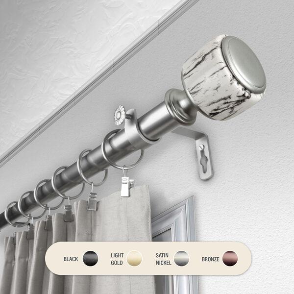Josephine Satin Nickel 160-240 Inch Curtain Rod, image 1