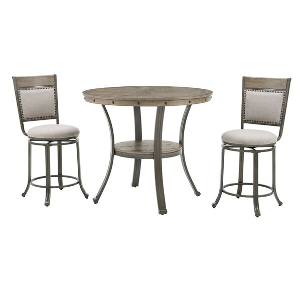 Elizabeth Pewter Counter Height Round Pub Table, image 6