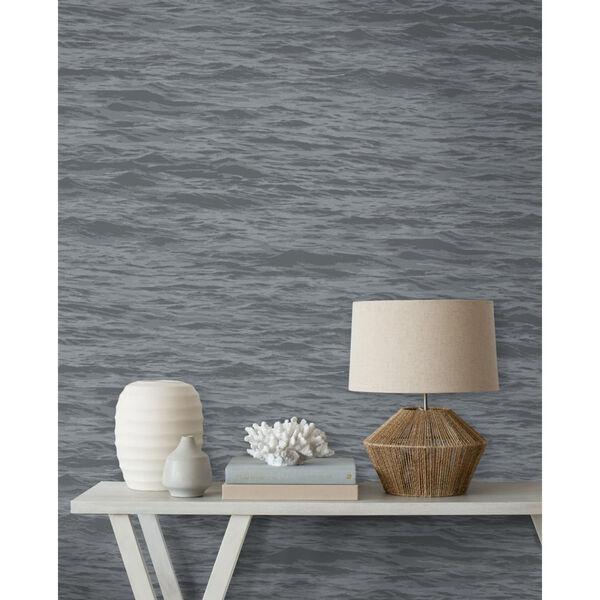 NextWall Gray Serene Sea Peel and Stick Wallpaper, image 4