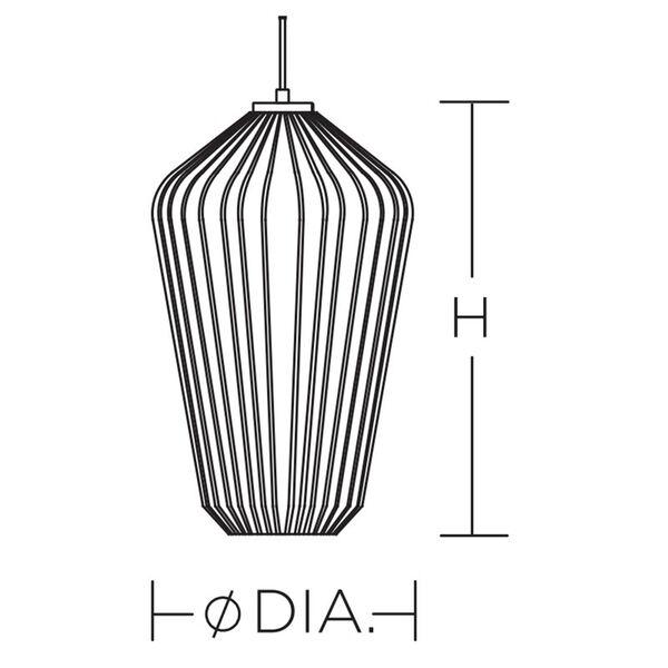 Lola White 11-Inch One-Light Pendant, image 4