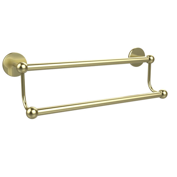 Satin Brass 18-Inch Double Towel Bar, image 1
