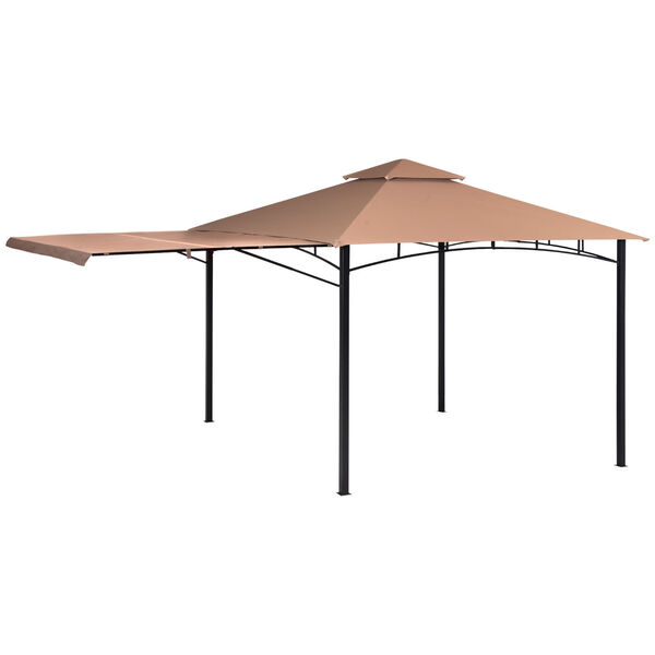 Redwood Brown Bronze 11 x 11 Feet Gazebo with Square Tube Brow Frame and Awning, image 1