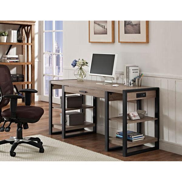 Urban Blend Grey 60-Inch Storage Desk, image 6