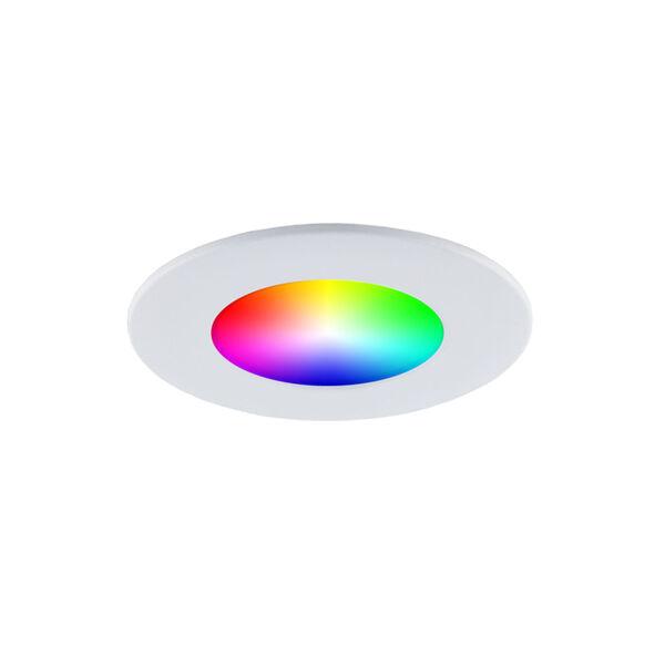 Matte White RGB LED Recessed Fixture Kit, image 3
