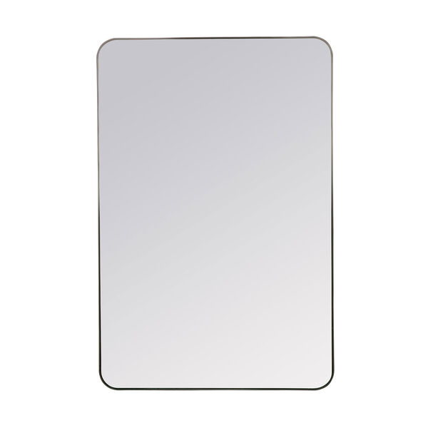 Franco Black Rectangular Mirror, image 3