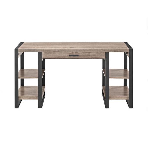 Urban Blend Grey 60-Inch Storage Desk, image 2