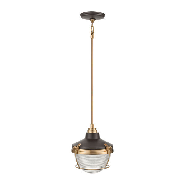 Seaway Passage Oil Rubbed Bronze and Satin Brass One-Light Pendant, image 2