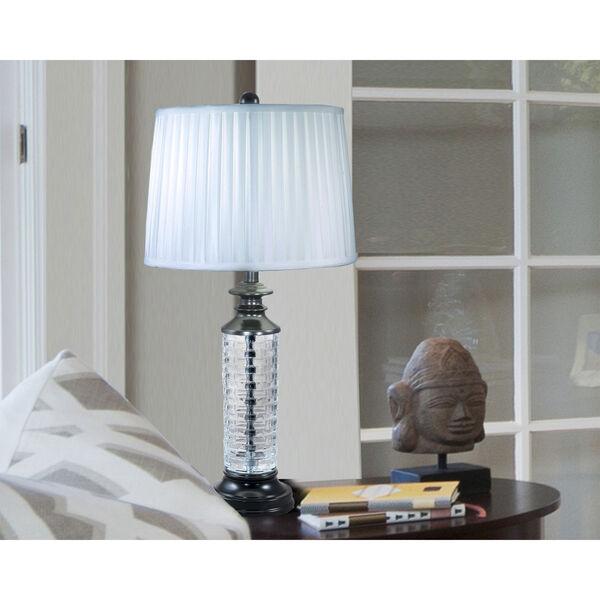 Overland Ebony Black and White One-Light Crystal Table Lamp, image 2