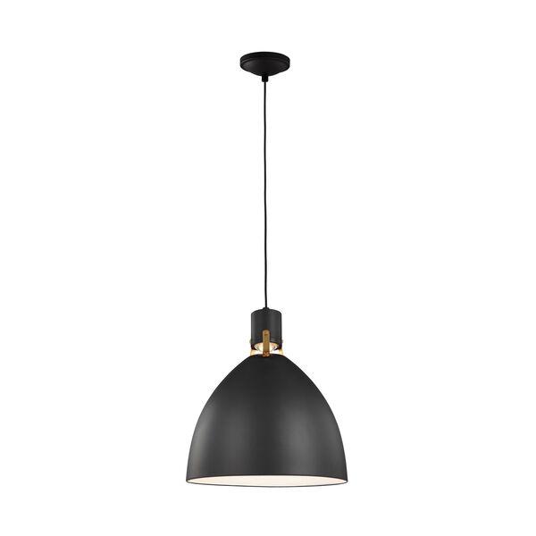 Brynne Matte Black 19-Inch LED Pendant, image 1